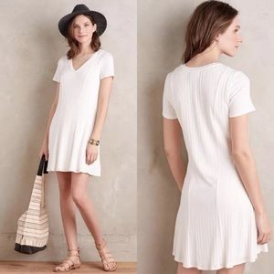 Anthropologie Dolan Ribbed Flare Dress Large